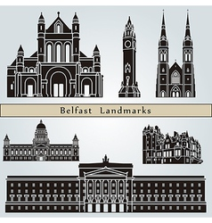 Belfast landmarks and monuments vector