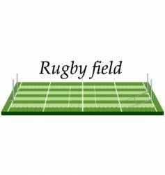 Rugby field vector