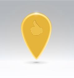 Golden like point map vector