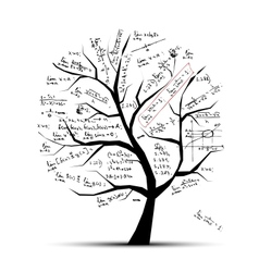 Math tree for your design vector