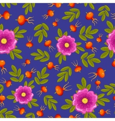 Dogrose seamless pattern vector
