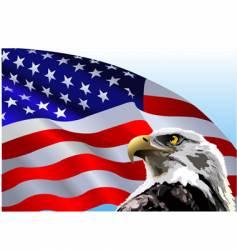 Bald eagle american flag vector