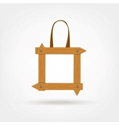Wooden boards shopping bag vector