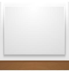 Blank canvas on display vector
