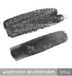 Gray watercolor brush strokes vector