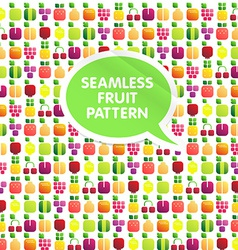 Seamless pattern of fruits and berries with leaves vector