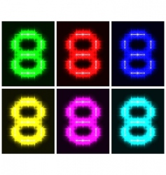 Number 8 symbols vector