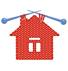 The house knitted on spokes vector