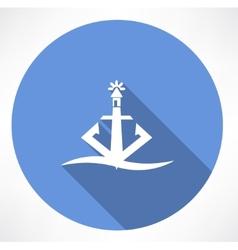 Anchor lighthouse icon vector