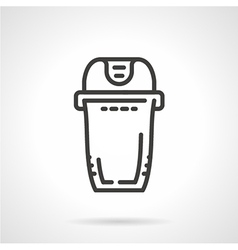 Trash can black line icon vector