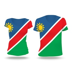 Flag shirt design of namibia vector