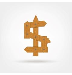 Wooden boards dollar sign vector