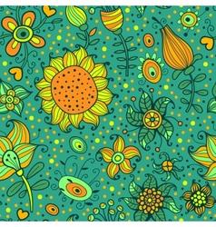 Flowering garden vector