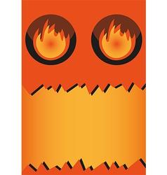 Banner halloween monster vector