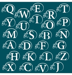 Vintage alphabet design element vector