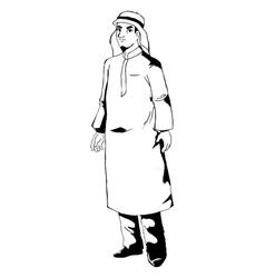 Arab figure vector