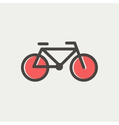 Bicycle thin line icon vector