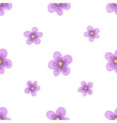 Watercolor lavender blossom seamless vector