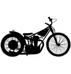 Speedway motorbike silhouette vector