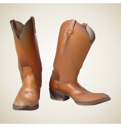 Beautiful cowboy boots vector