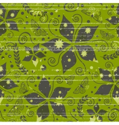Pattern with nature and grunge vector