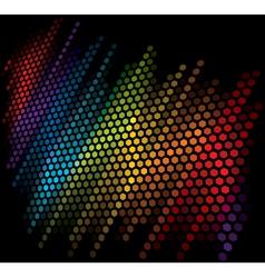 color scale equalizer on black background vector