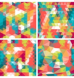 Seamless triangle patterns in retro style vector