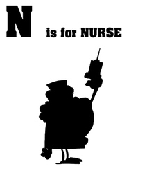 Nurse cartoon silhouette vector
