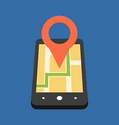Mobile gps navigation concept flat design isolated vector
