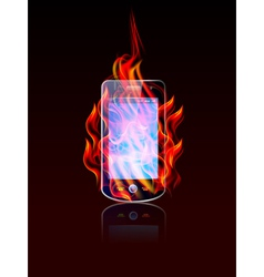 Mobile burn vector