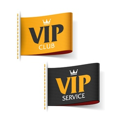 Vip service and vip club labels vector