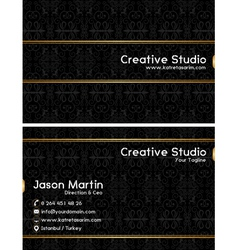 Prestige business card vector
