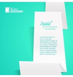 White folded paper vector