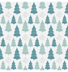 Abstract color christmas tree seamless pattern vector