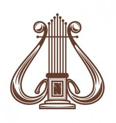 Musical instrument harp vector
