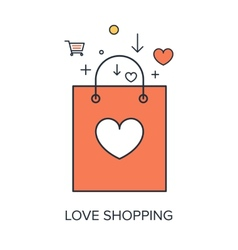Love shopping vector