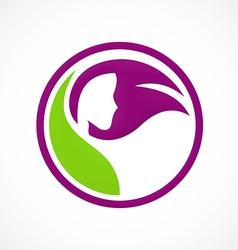 Hair salon beauty abstract logo vector