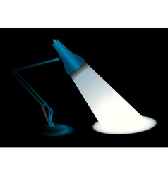 Metal desk lamp vector
