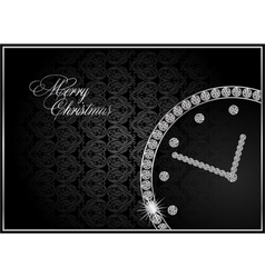 Abstract diamond watch vector