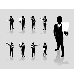 Business people paper vector