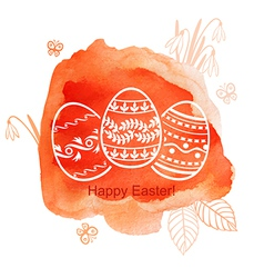 Easter watercolor red vector
