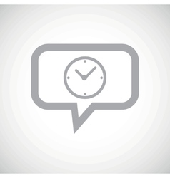 Clock grey message icon vector