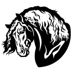 Heavy horse head vector