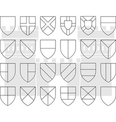Stencils of division of the shield vector