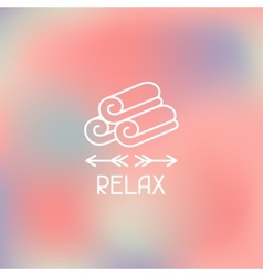 Spa relax label on blurred background vector