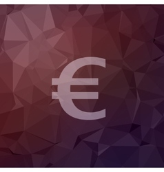 Euro symbol in flat style icon vector