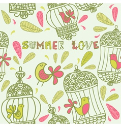 Summer floral love background vector