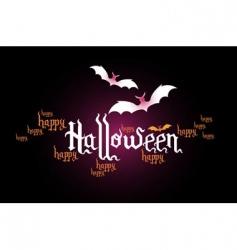 Halloween typographic banner vector