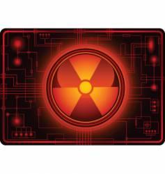 Nuclear sign micro schema vector