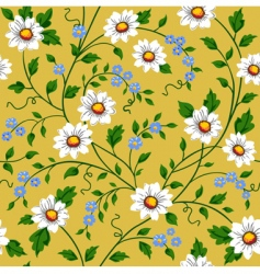 Seamless daisy pattern vector
